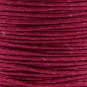 Waxkoord 1mm aubergine rood