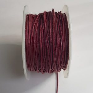 Waxkoord 1mm bordeaux