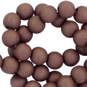 Acryl kralen 6mm choco brown