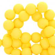 Acryl kralen 6mm freesia yellow