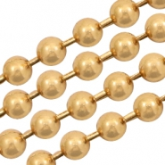 Ball chain 3mm goud