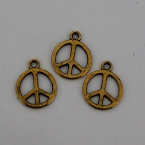 Bedel peace 12mm goud