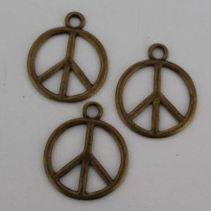 Bedel peace groot antiek goud