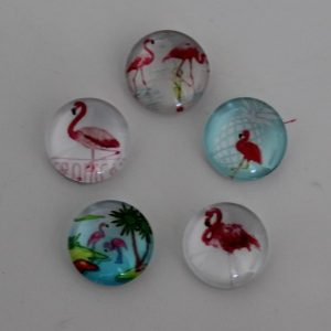 Cabochons 10mm mix flamingo 4