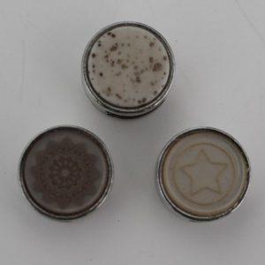 Cabochons 12mm met schuiver mix