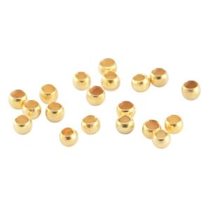 DQ knijpkraal 2mm goud