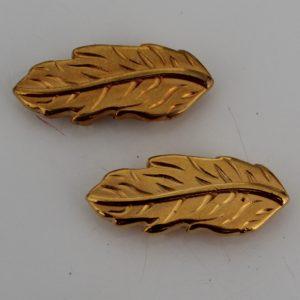 DQ schuiver blad goud voor 10mm plat leer of koord