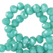 Facet kralen 4x3mm waterfall blue half pearl shine
