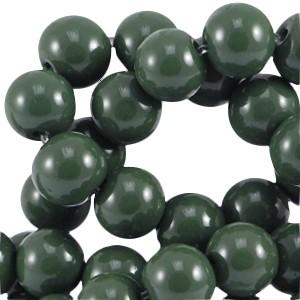 Glaskralen 4mm opaque dark green