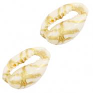 Kauri schelp gold line off white