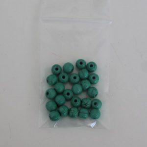 Keramiek kralen 6mm turquoise green