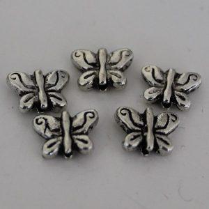 Kraal vlinder klein zilver