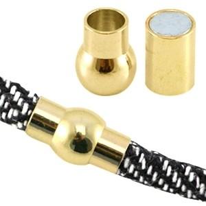 Magneetsluiting 2.0 voor 6x4mm leer of koord goud