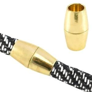 Magneetsluiting 3.0 voor 6x4mm leer of koord goud