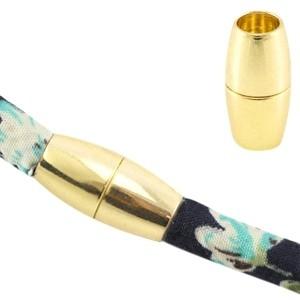 Magneetsluiting voor 5x4mm leer goud