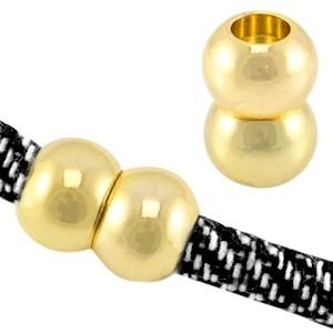 Magneetsluiting voor 6x4mm leer of koord goud