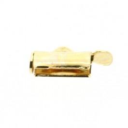 Miyuki eindkapje 10mm goud