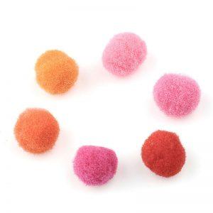 Pompoms mix 10mm roze