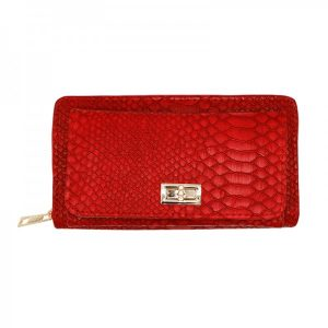 Portemonnee croco groot rood