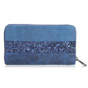 Portemonnee glitters blauw