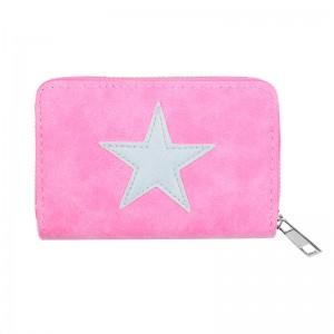 Portemonnee ster klein roze