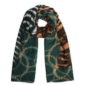 Sjaal animal chain groen