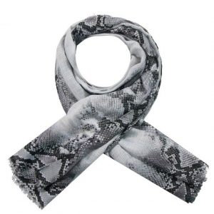 Sjaal snake grijs