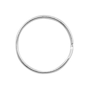 Sleutelhanger ring 24mm zilver
