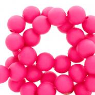 Acryl kralen 4mm matt fluor pink