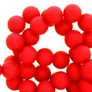 Acryl kralen 4mm matt red