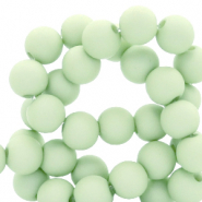 Acryl kralen 4mm neo mint green