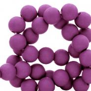 Acryl kralen 6mm deep lavander purple