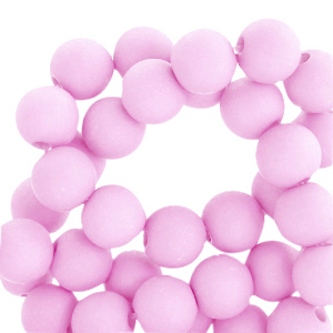 Acryl kralen 6mm matt pink