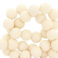 Acryl kralen 8mm sweet corn white