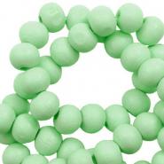 Houten kralen 6mm spearmint green