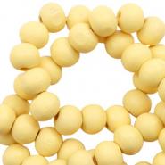 Houten kralen 8mm sunshine yellow