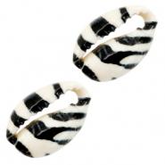 Kauri schelp tiger zwart wit