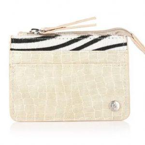 Portemonnee mini croco zebra beige