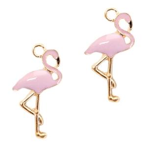 Bedel flamingo lavendel goud