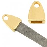 DQ eindkapje 2.0 goud voor 5mm plat leer en koord