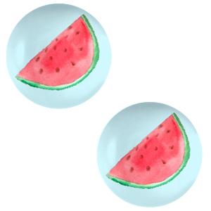 Cabochon 12mm watermeloen sky blue