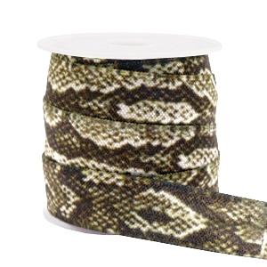 Elastisch Ibiza lint 15mm snake camel brown