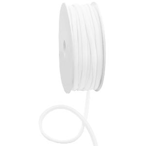 Elastisch Ibiza lint gestikt 5mm white