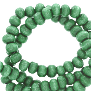 Nature houten kralen 8mm basil green