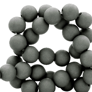 Acryl kralen 4mm dark sleet grey