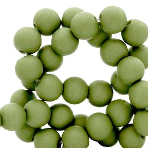 Acryl kralen 4mm green olive g