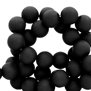 Acryl kralen 6mm black