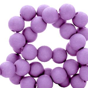Acryl kralen 6mm paisley purple