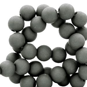 Acryl kralen 8mm dark sleet grey