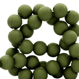 Acryl kralen 8mm dusty olive